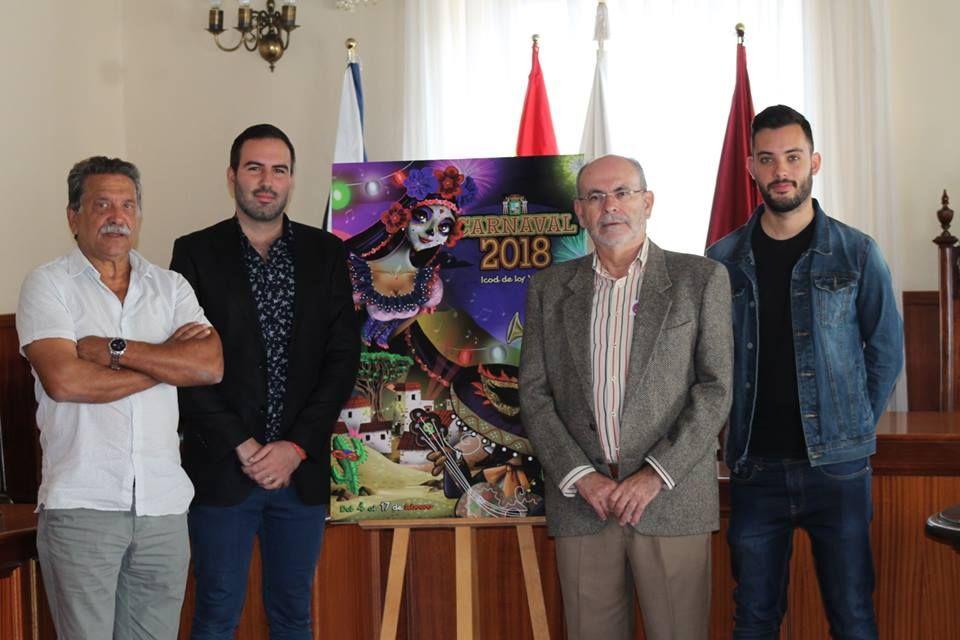 Resultado de imagen de cartel carnaval icod de los vinos 2018