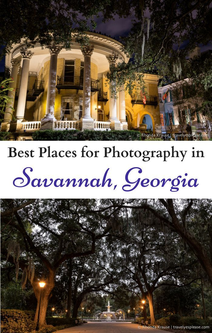 Best Places for Photography in Savannah, Travel