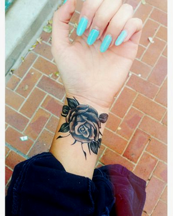 Black Rose Tattoos And Their Definitions Wrist Tattoos For Women Rose Tattoos On Wrist Wrist Tattoo Cover Up