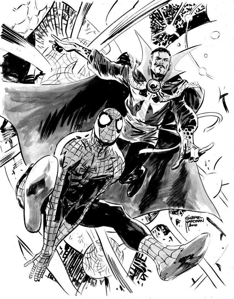 Spiderman Enemies Coloring Pages Capas De Quadrinhos Super Heroi Desenhos Pretos
