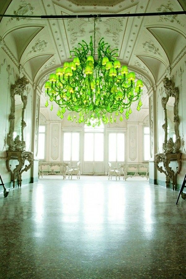 Neon Chandelier With Images Green Chandeliers Bright
