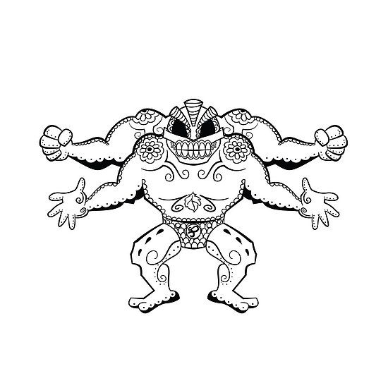 machamp pokemon coloring pages - photo#33