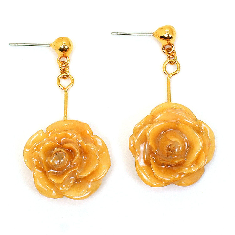 frozen orange earrings