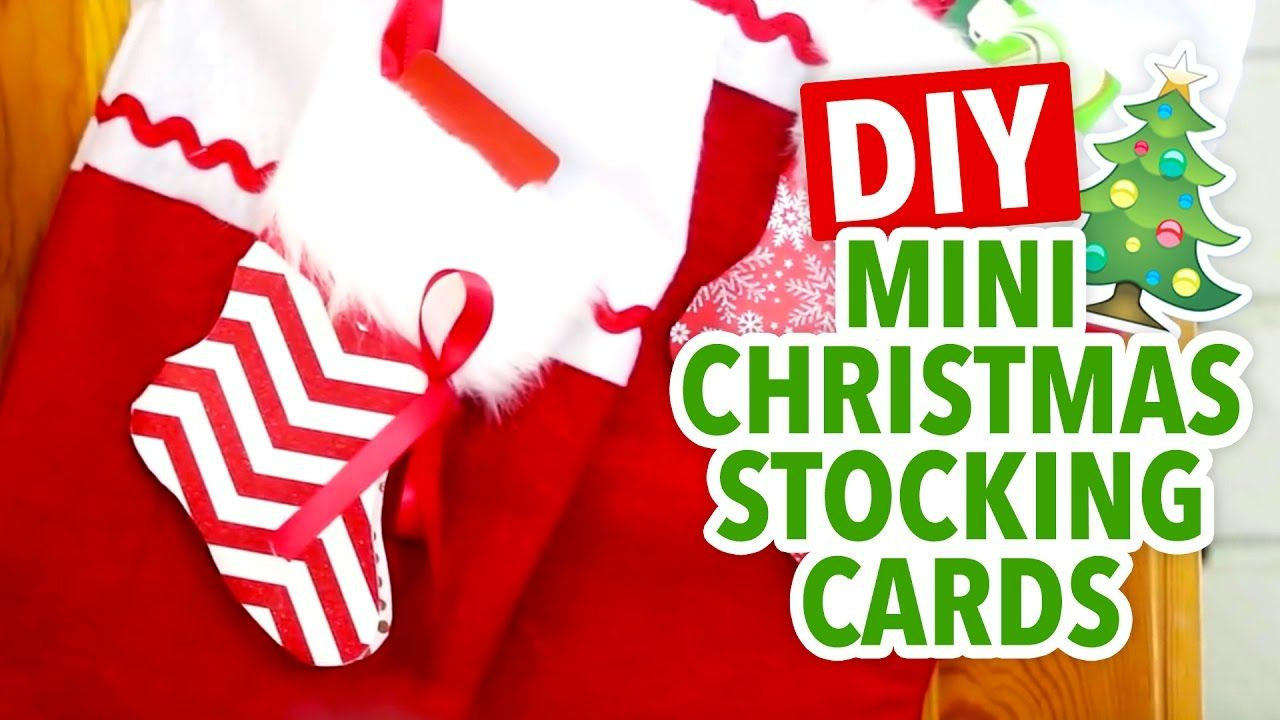 DIY Mini Paper Stocking Gift Card Holder | Custom Christmas Greeting ...