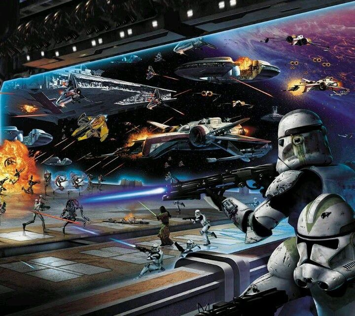Battle Over Coruscant In A Hangar Star Wars Pictures Star Wars Images Star Wars