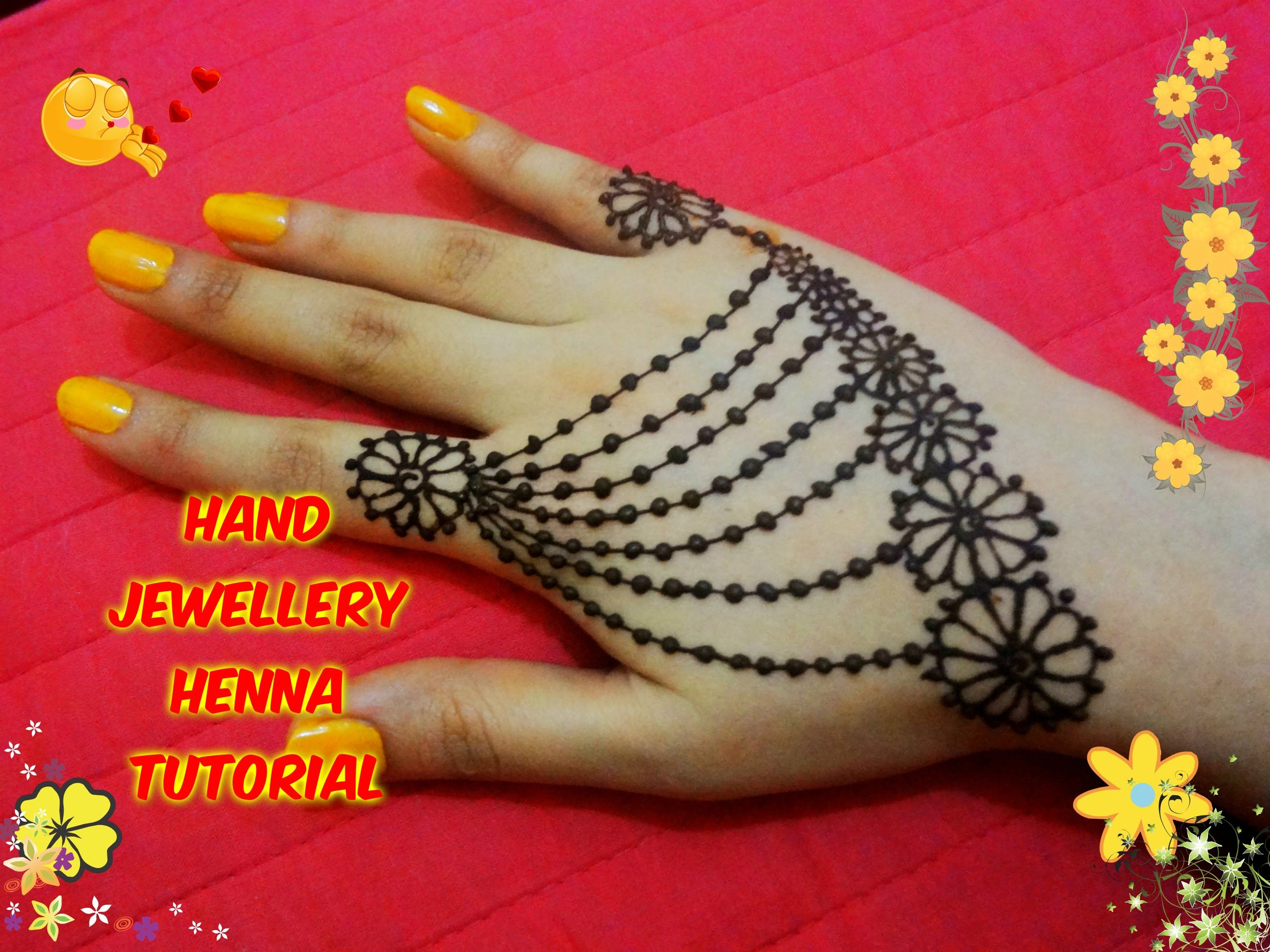 Mehndi Bracelet Designs 2016 : Easy diy best and beautiful hand jewellery henna mehndi design