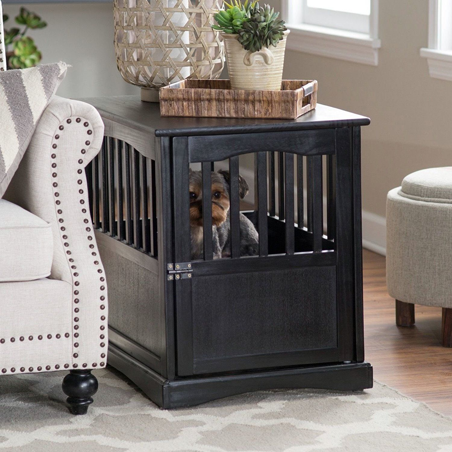 Wooden Dog Crates That Look Like Furniture   Luxury Crate End Tables