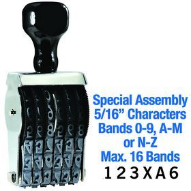 """#Special Assembly #Line #Number Stamp 5/16 Character Size. Looking for a one-of-a-kind line number stamp? You'll love our selection! Click here to order a Special Assembly Line Number Stamp 58/16"""" Character Size."""