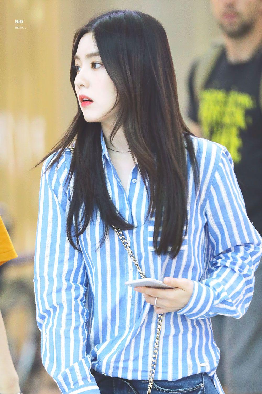 Https Onehallyu Com Topic 561126 E3 80 90 Instiz E3 80 91 Red Velvet E2 80 99s Irene And Her Striped Shirts Red Velvet Irene Velvet Red Velvet