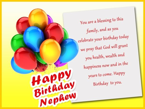 Happy Birthday Nephew Wishes Card Messages Quotes