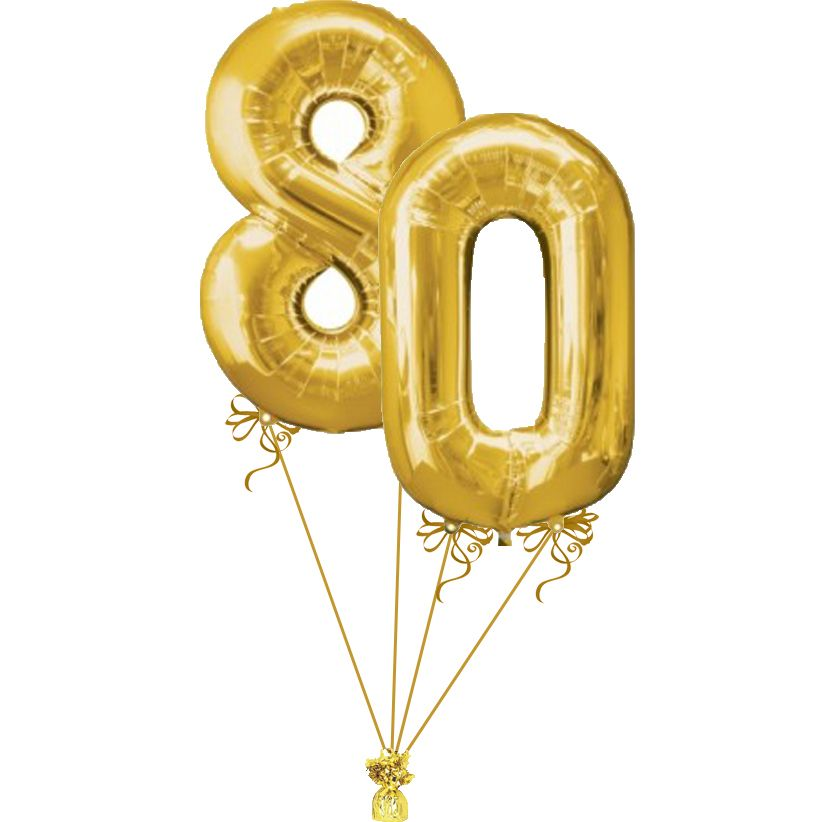 80th birthday party balloons