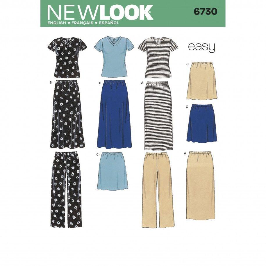 New Look 6730 Women's Separates Sewing Pattern | New look patterns, Dress  clothes for women, Sewing clothes women