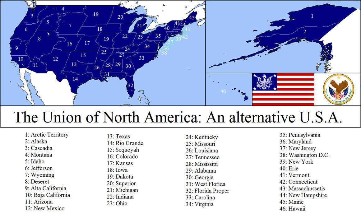 An Alternate Usa By Dinospain Alternate Flags And Maps Pinterest