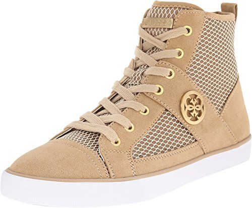 GUESS Womens Mamari Natural Fabric Sneaker 8 M * You can find more details  by visiting
