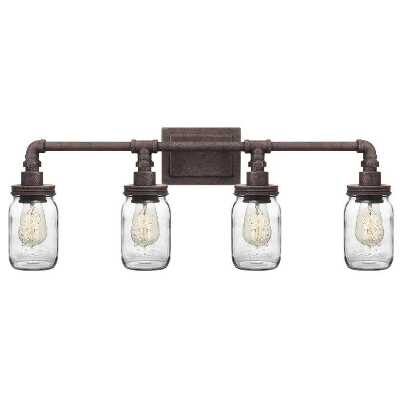 Photo of Quoizel SQR8604 Squire 4 Light 31″ Wide Bathroom Vanity Light Rustic Black Indoor Lighting Bathroom Fixtures Vanity Light