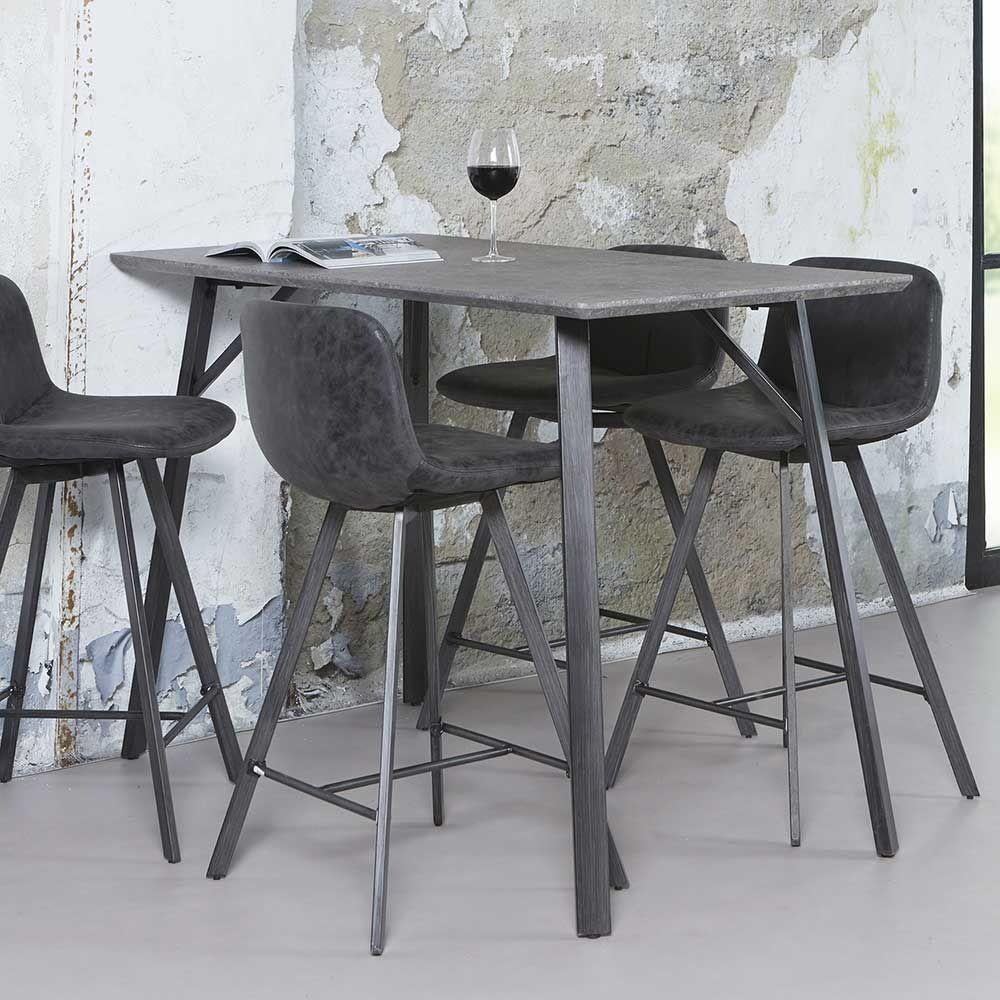Küchenbartisch in Schwarz Grau Stahl Jetzt bestellen unter: https ...