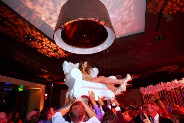 Bat Mitzvah Grand Entrance On White Oversized Chair Brad Austin Mazelmoments