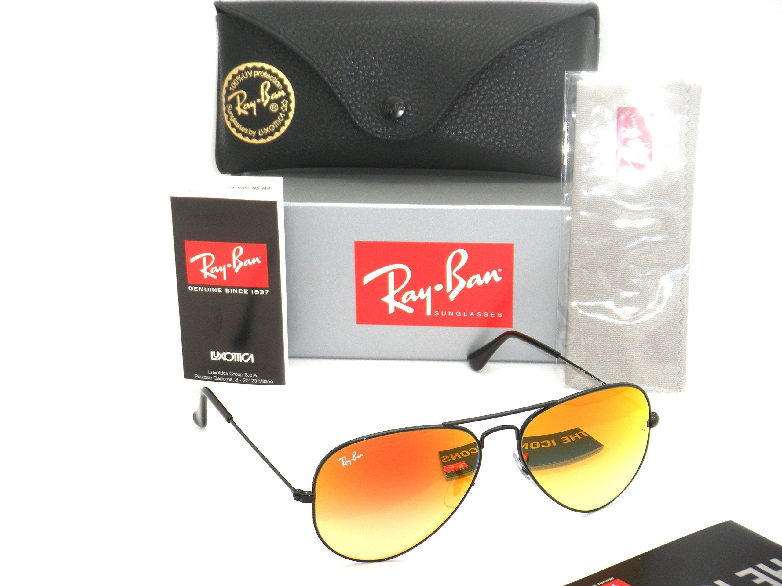 57b6264190d New Authentic Ray-Ban Aviator RB 3025 002 4W 55mm Black   Red Gradient