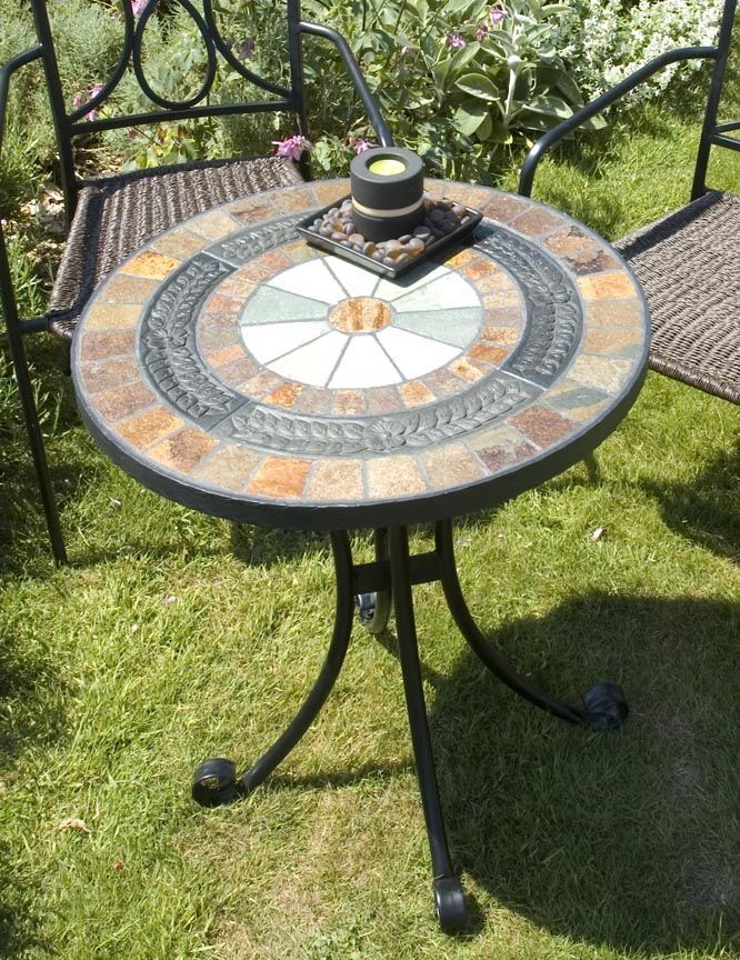 Garden Furniture Mosaic mosaic bistro table sets | the europa villena mosaic bistro table