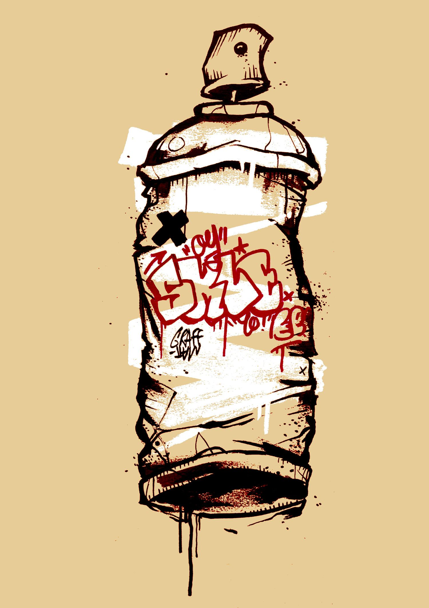 Spray can by graffmatt graffmatt art spray sprayart spraypaint spraycan