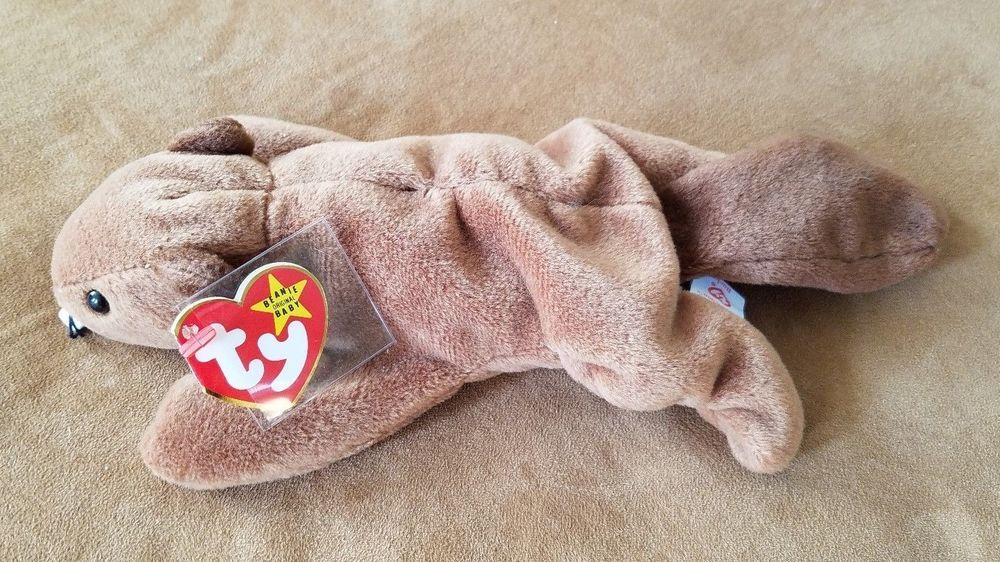 1ad3d4f8918 RARE TY Beanie Baby BUCKY BEAVER w  TAG ERRORS DOB PVC Deutschland Mint New   Ty