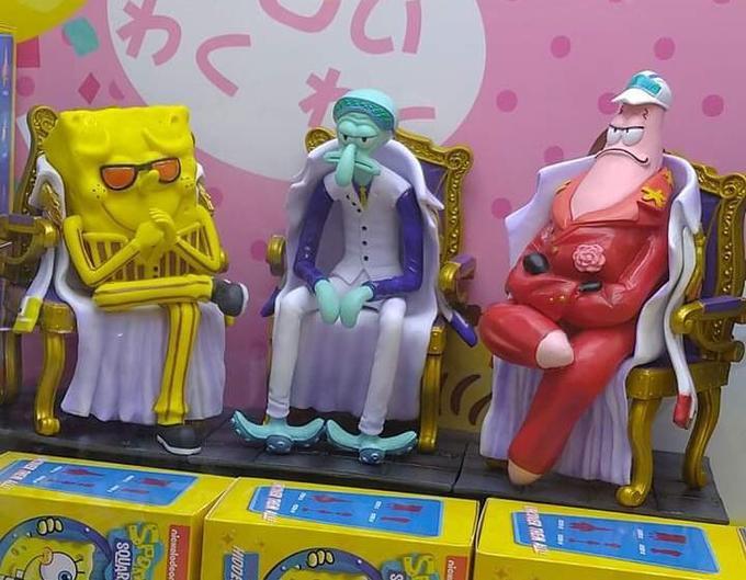 The three Admiral Spongebob figures Spongebob anime