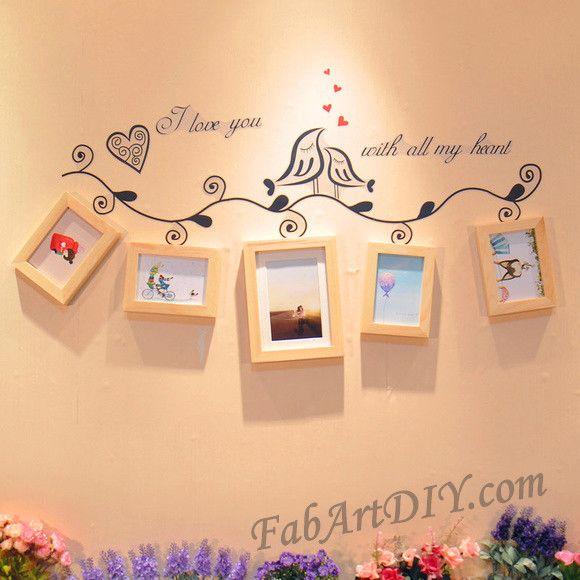 24 Romantic DIY Photo Display Wall Art Ideas | gør det selv ...