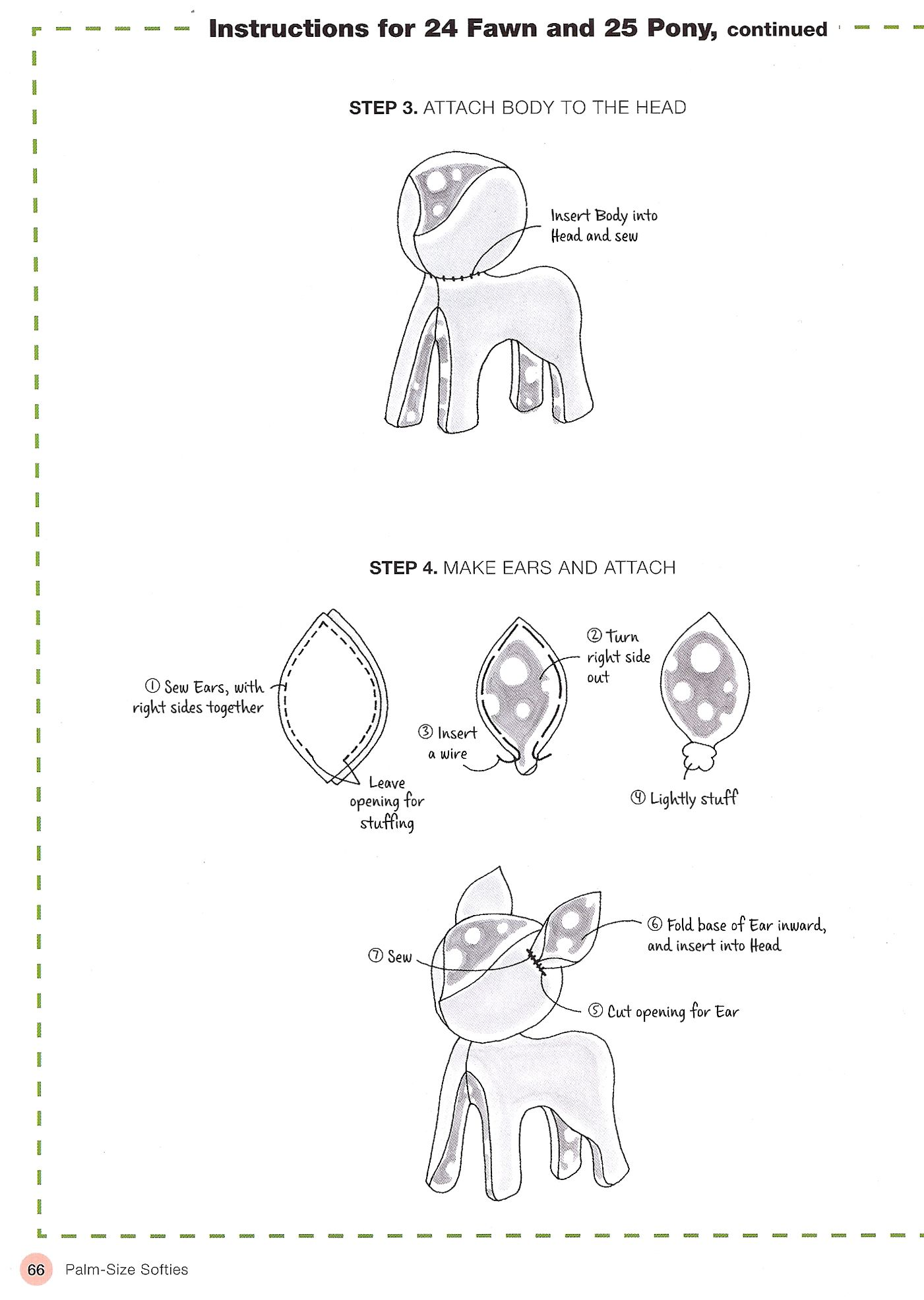 How to make a retro fawn softie from the new book Palm