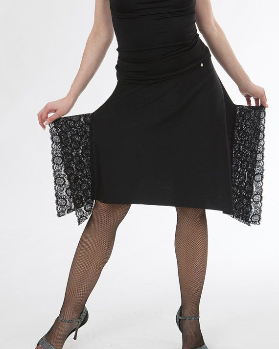 Single layered asymmetrical skirt with lace door TheGiftofDance