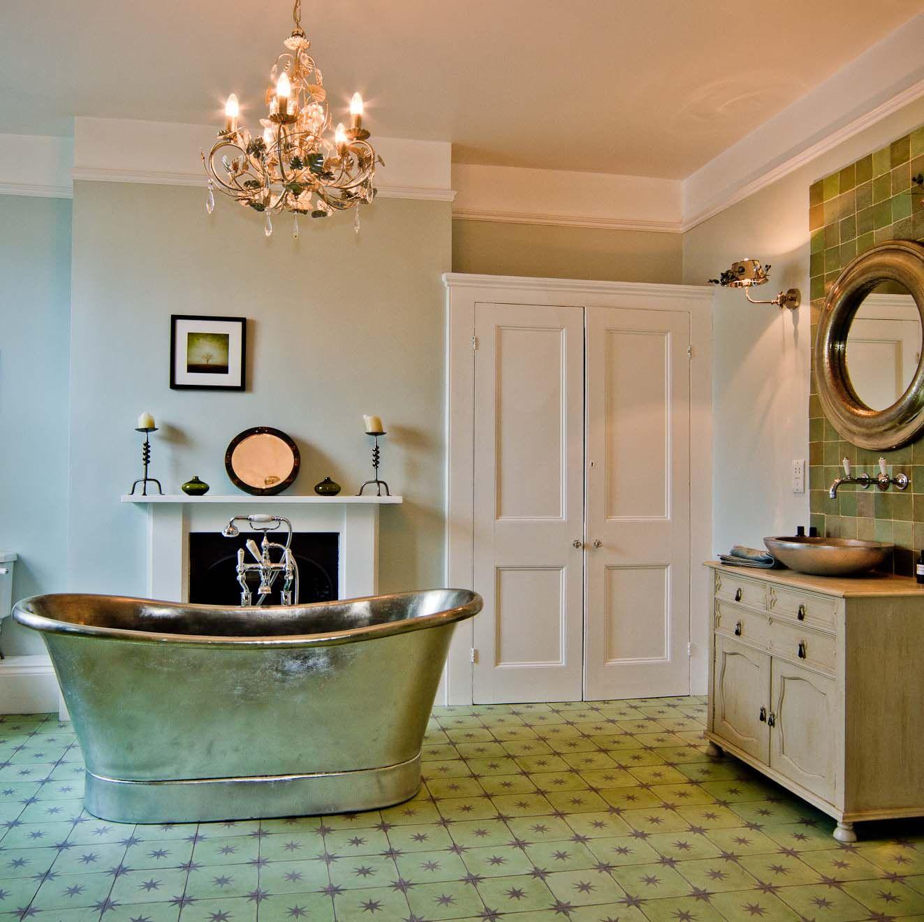 Silver Bath, Spanish Tiles, Beautiful Bathrooms