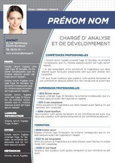 modele cv rh modele cv consultant rh | Projets à essayer | Pinterest | Typo modele cv rh