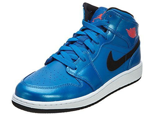 on sale 70a1a d0cd0 Air Jordan 1 Mid (Kids) - Sport Blue   Infrared 23-Black-White, 6 M US  Jordan