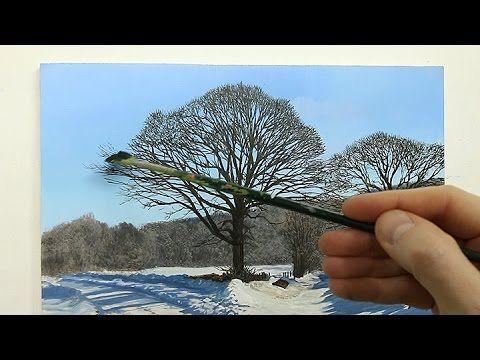 Apprendre A Peindre Un Arbre A L Aquarelle Youtube Paysage