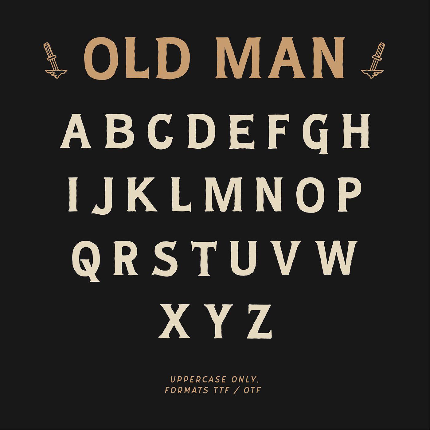 Old Man Typeface In 2020 Word Fonts Lettering Fonts Vintage Fonts Free