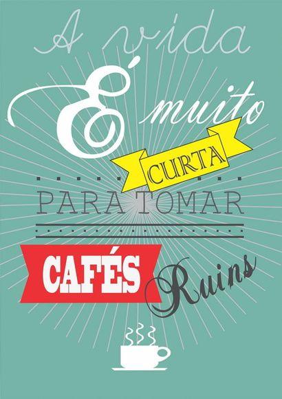 Placa Decorativa A Vida E Muito Curta Frases Poster Cafe