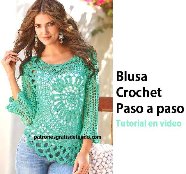 Blusa crochet famosa por Ana Maria Braga | remeras verano ...