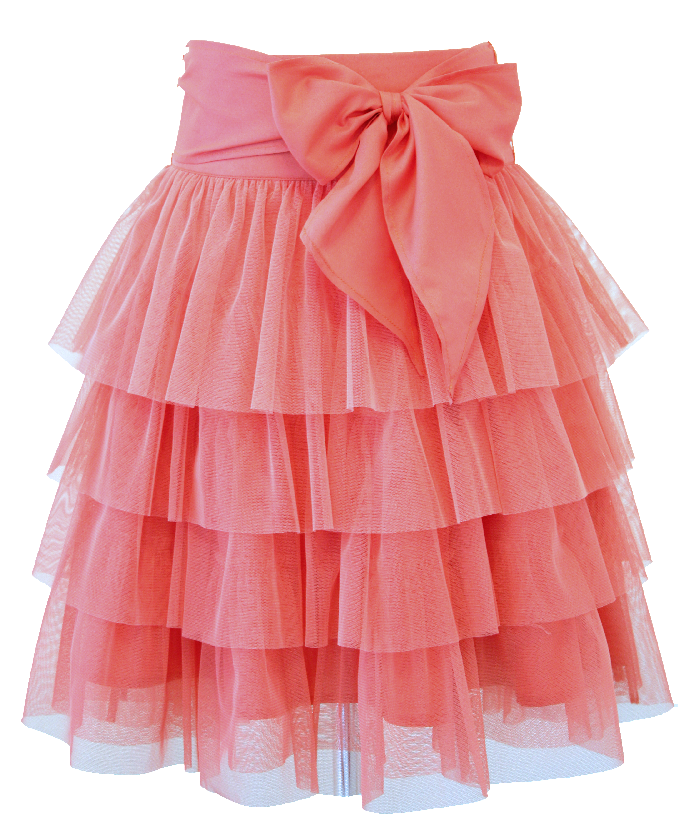 c078e7a0ccde Sugar Coral Tulle Party Skirt