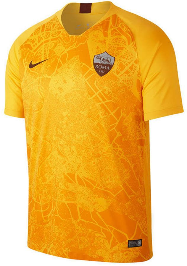 4f4cf9f54 Nike Men s As Roma International Club 3rd Jersey - Yellow S in 2019 ...