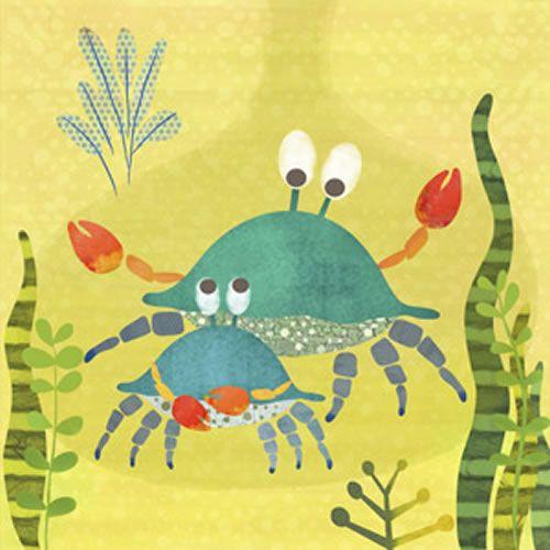 Crab Pals Canvas Wall Art | Canvases, Sea art and Illustrations