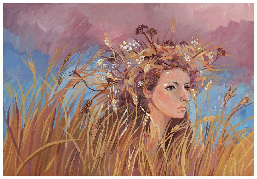 """In the Ears of Wheat"" by yanadhyana.deviantart.com"