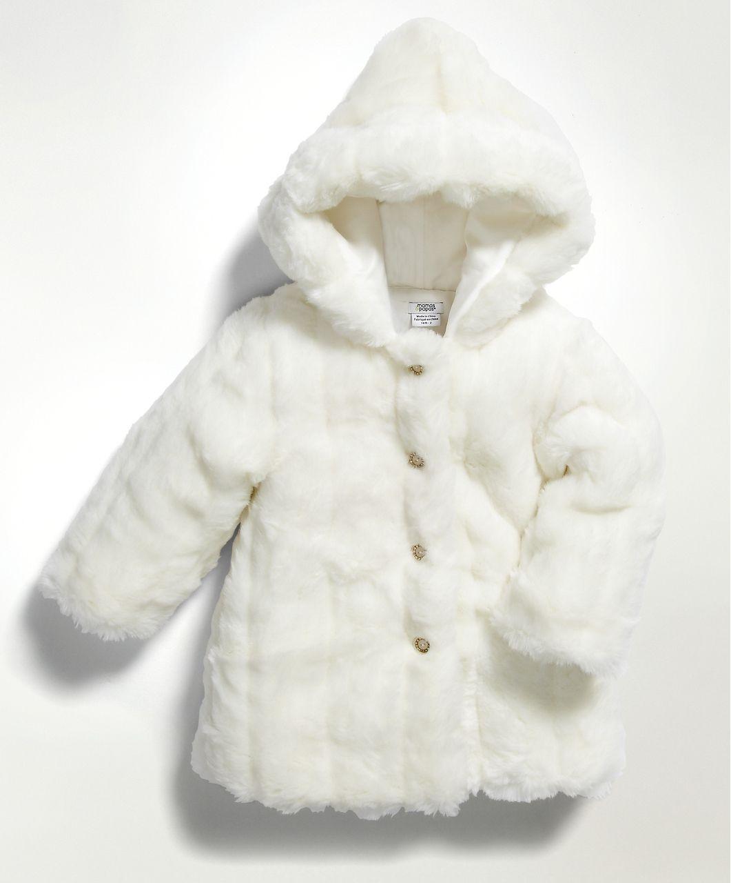 c45dac7cb Girls Cream Faux Fur Coat - Cardigans   Jackets - Mamas   Papas ...