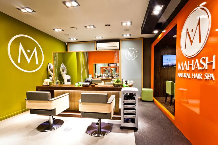 Beauty salon design hair spa reis design created this for Hair salon interior design photo