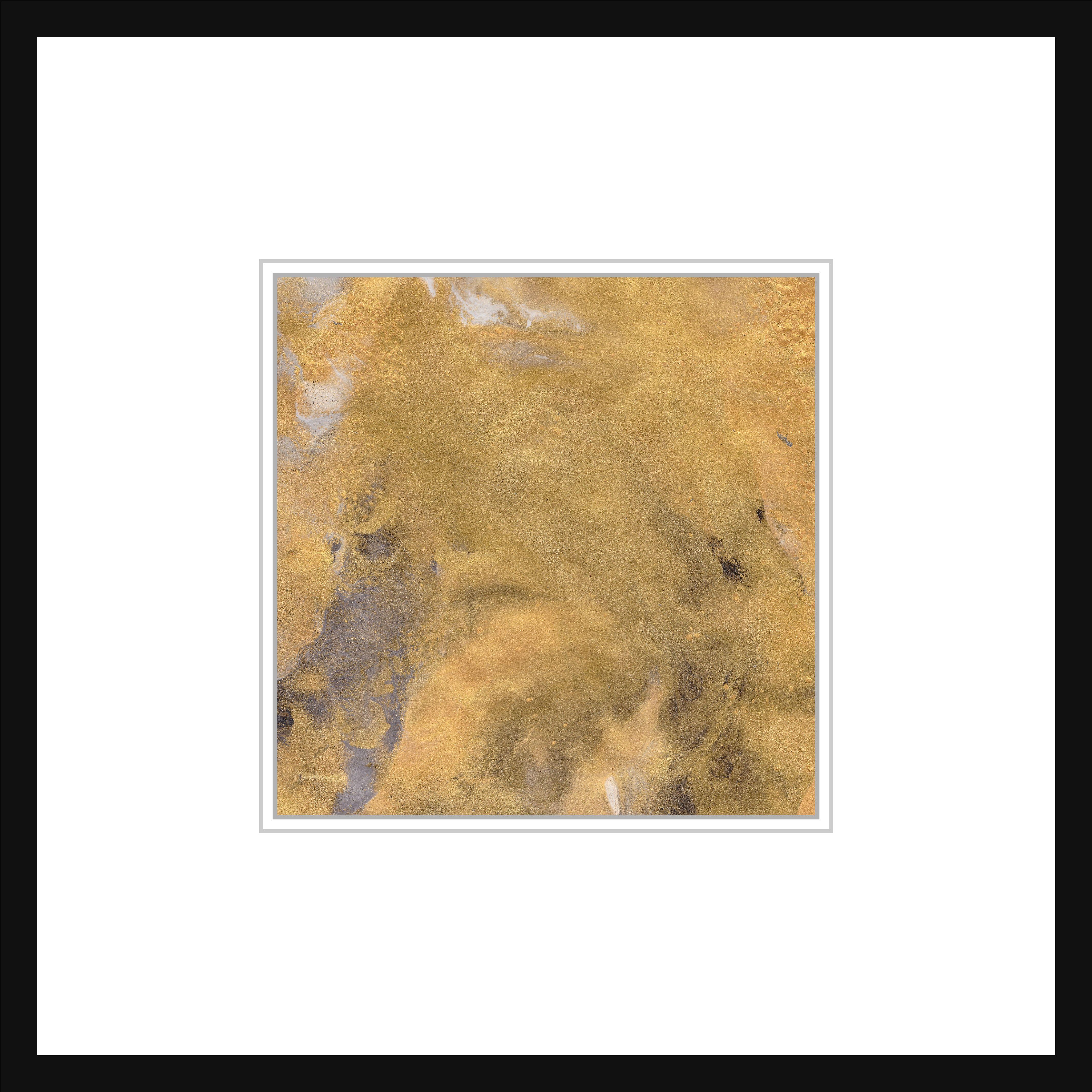 Gold square printable art print white black abstract minimalist