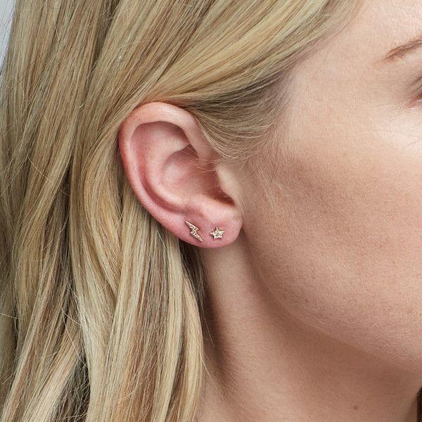 2c6f74ac9 Diamond Lightning Bolt Earrings in 2019   Stud Earrings   Earrings ...