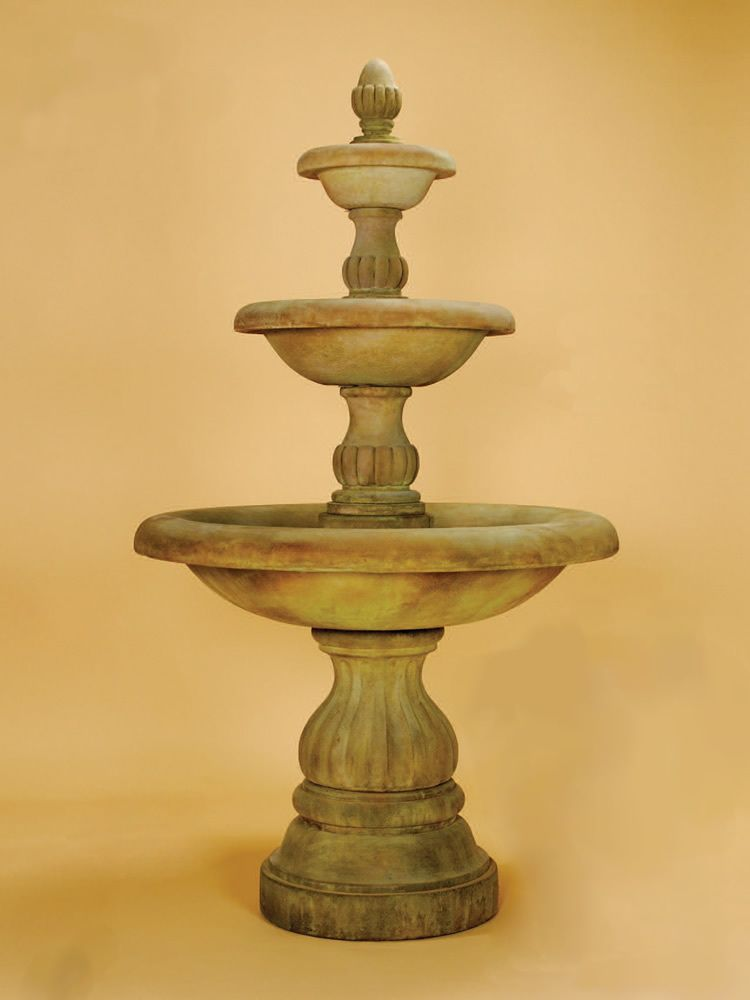 Isola Three Tier Fountain | Fountain, Wall fountains and Garden ...