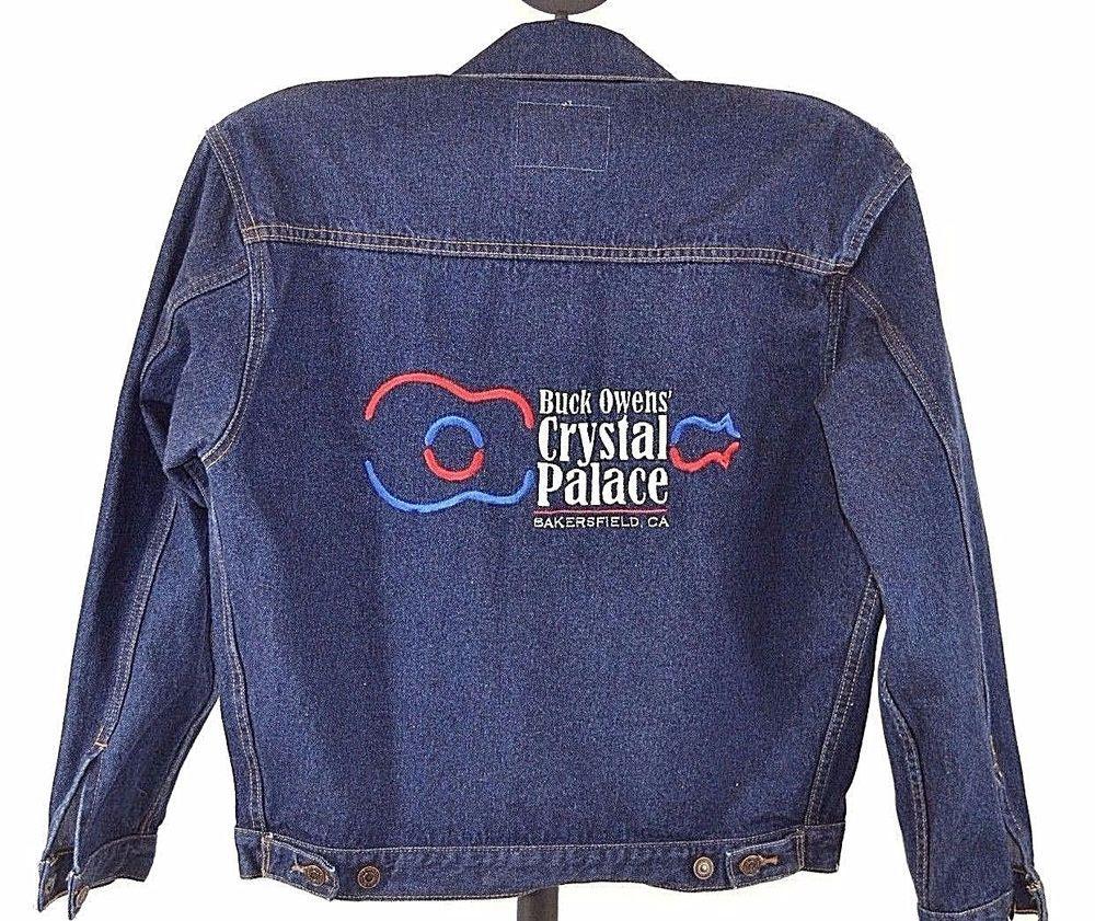 Buck Owens Crystal Palace Denim Jacket Blue M Embroidered Cotton Men S Denim Jacket Denim Men S Coats And Jackets [ 841 x 1000 Pixel ]