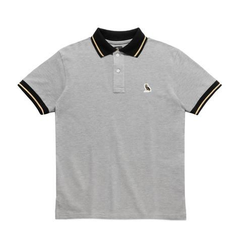 d2293e82 OWL LOGO POLO SHIRT - GREY | tops / upper mood board | Polo, Polo ...