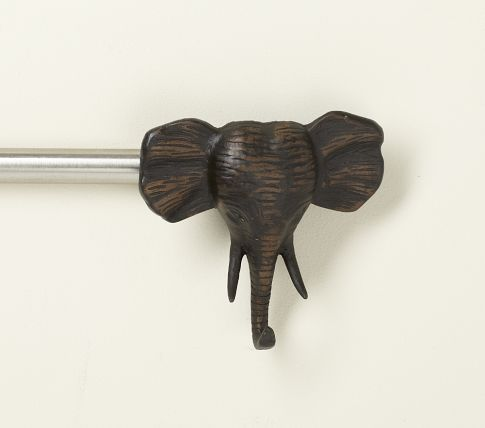Elephant Finial For Curtain Rods Wish I D Seen This
