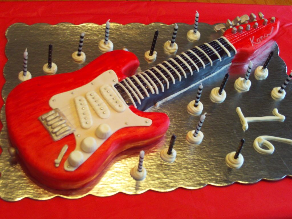 Electric guitar cake guitar cake guitars and template for Guitar templates for cakes
