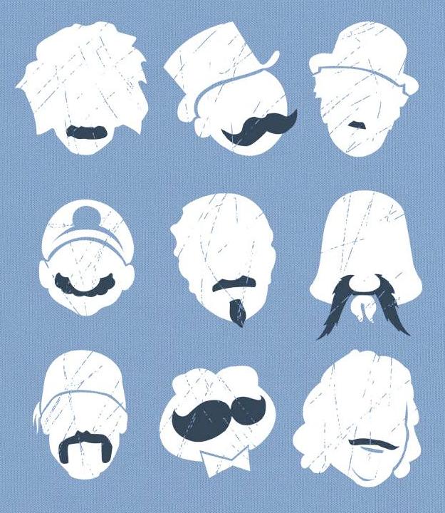 Classic Mustaches Moustache Famous Mustaches Character Design